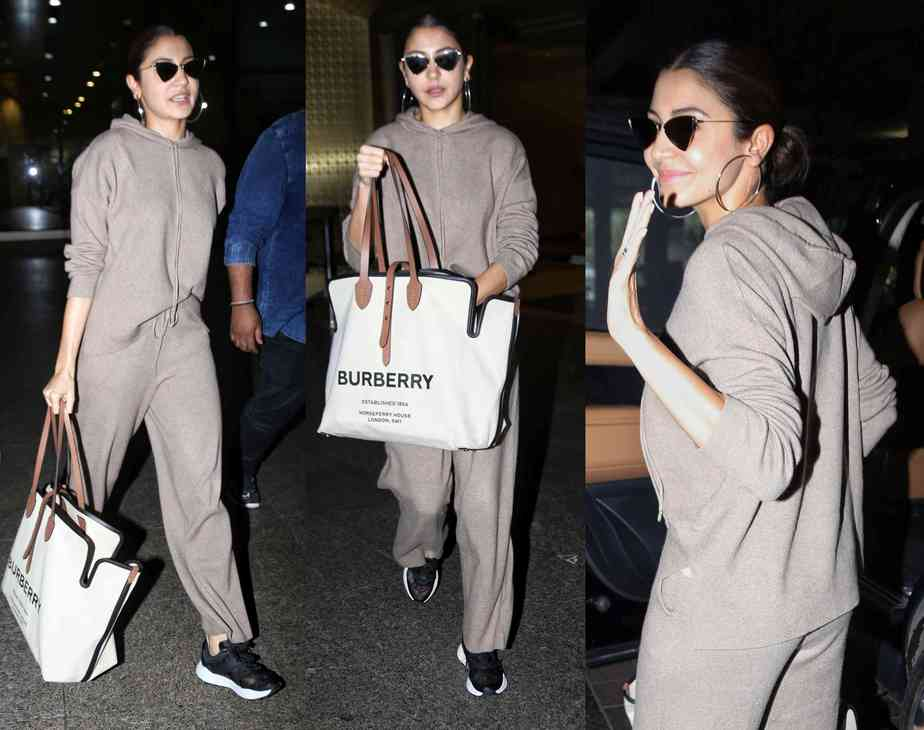 anushka sharma airport dress