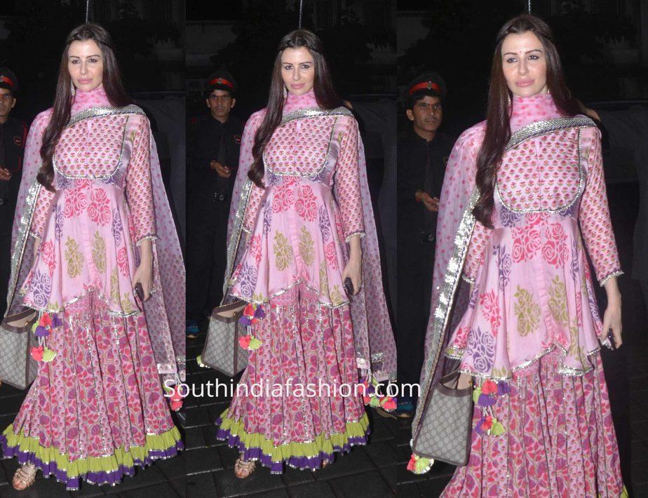 arbaaz khan girl friend Giorgia Andriani sharara suit ganesh festival