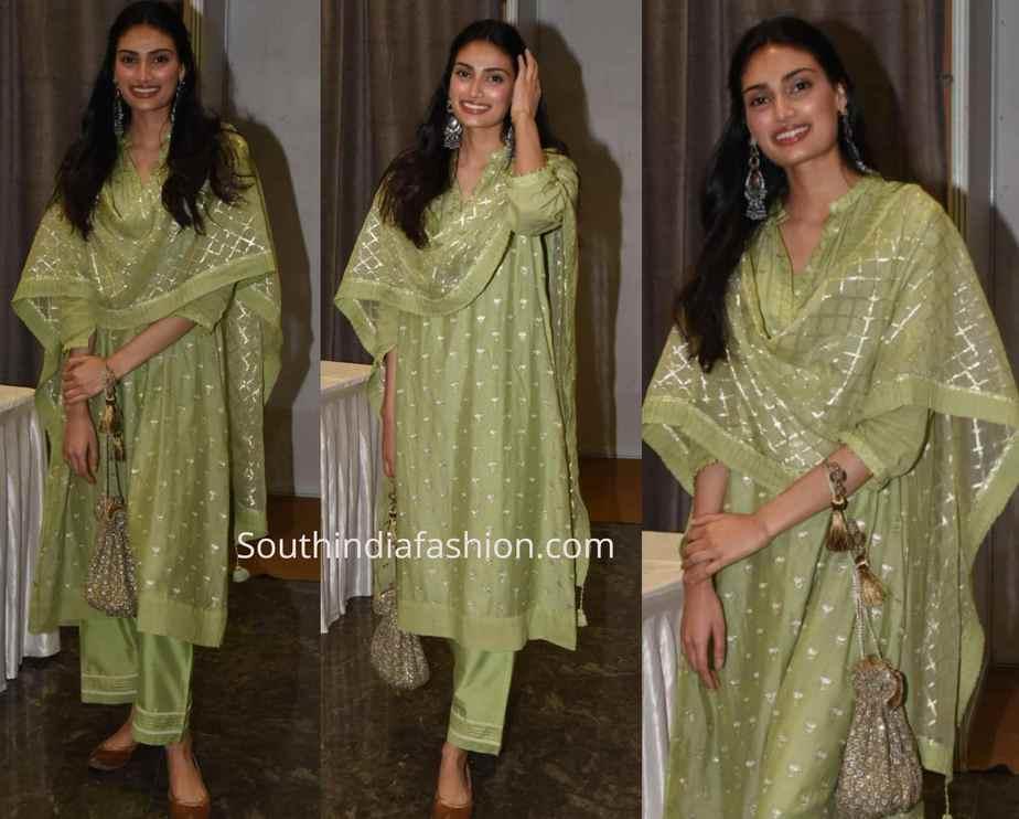 athiya shetty green salwar kameez