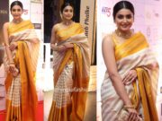 avantika mishra in bhargavi kunam saree at dadasaheb phalke awards 2019