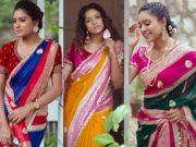 bhargavi kunam latest designer sarees collection 2019