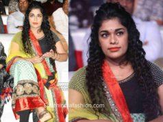 chiranjeevi daughter sreeja dress at sye raa pre release event