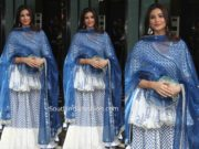 daisy shah sharara suit at arpita khan ganesh puja 2019