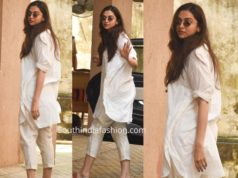 deepika padukone casual look white kurta pants