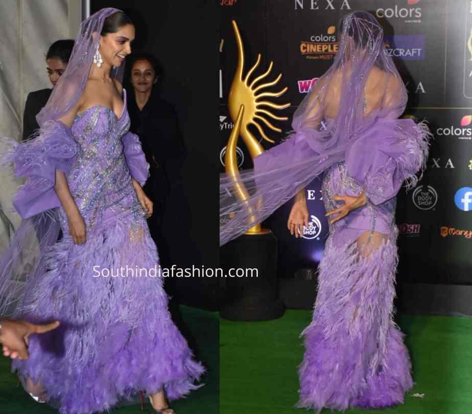 deepika purple dress at iifa 2019