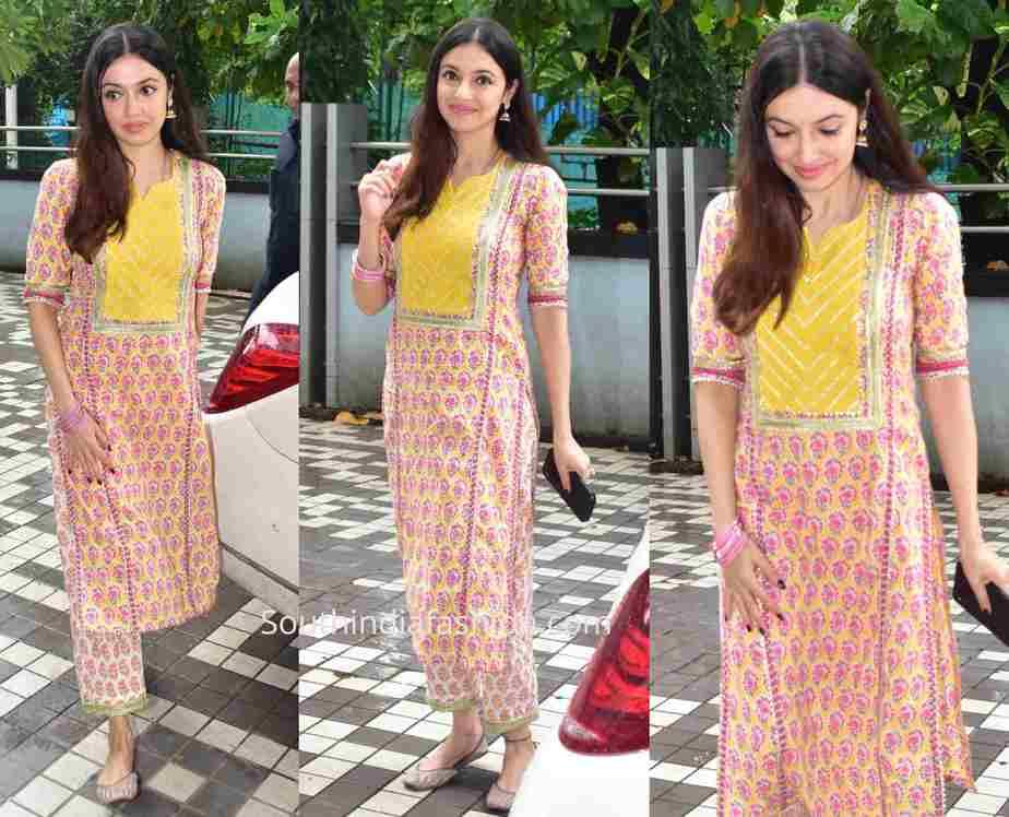 divya khosla kumar printed kurta set