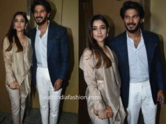 dulquer with wife amal at the zoya factor screening