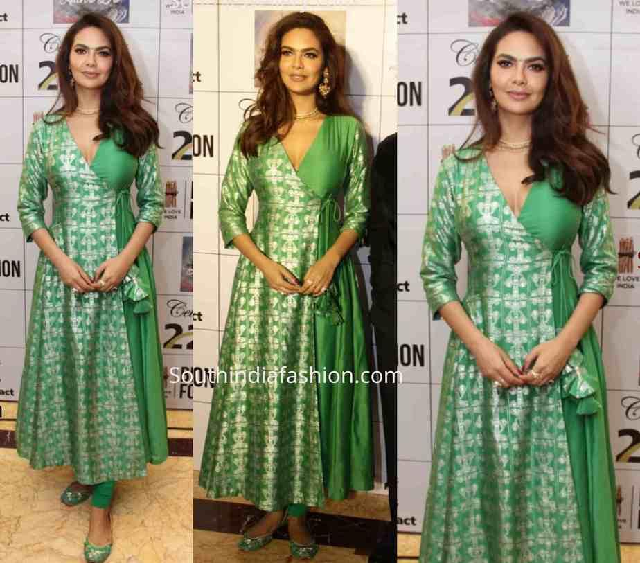 eesha gupta green kurta bhamla foundation event