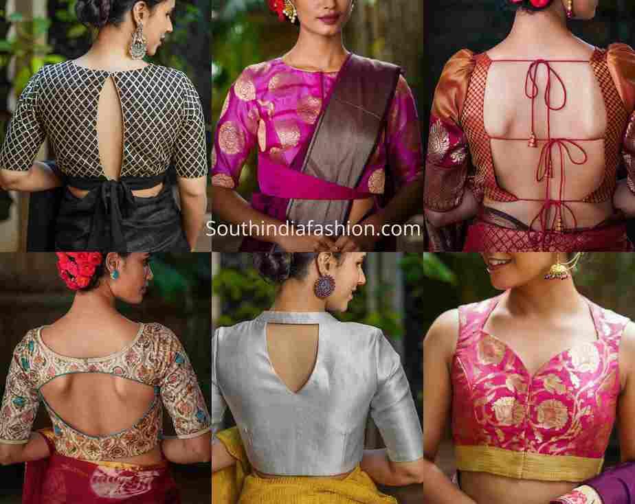 festive brocade blouse designs