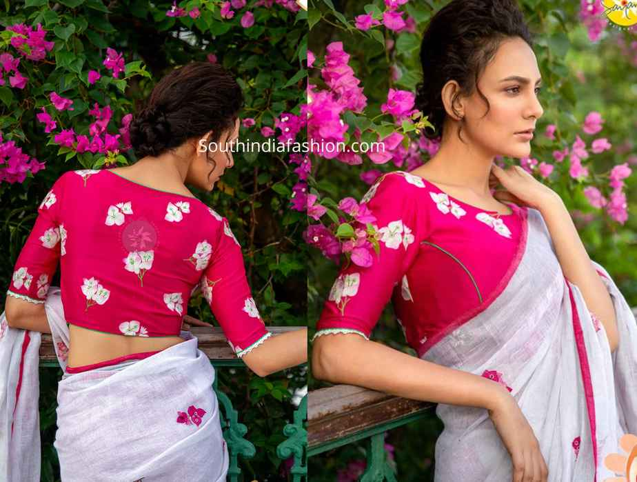 floral embroidered blouse designs 2019 (1)