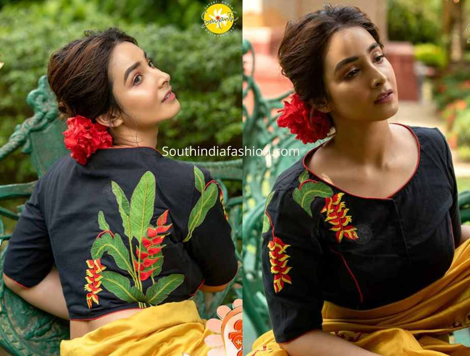 funky embroidered blouse design sayanti ghosh (1)