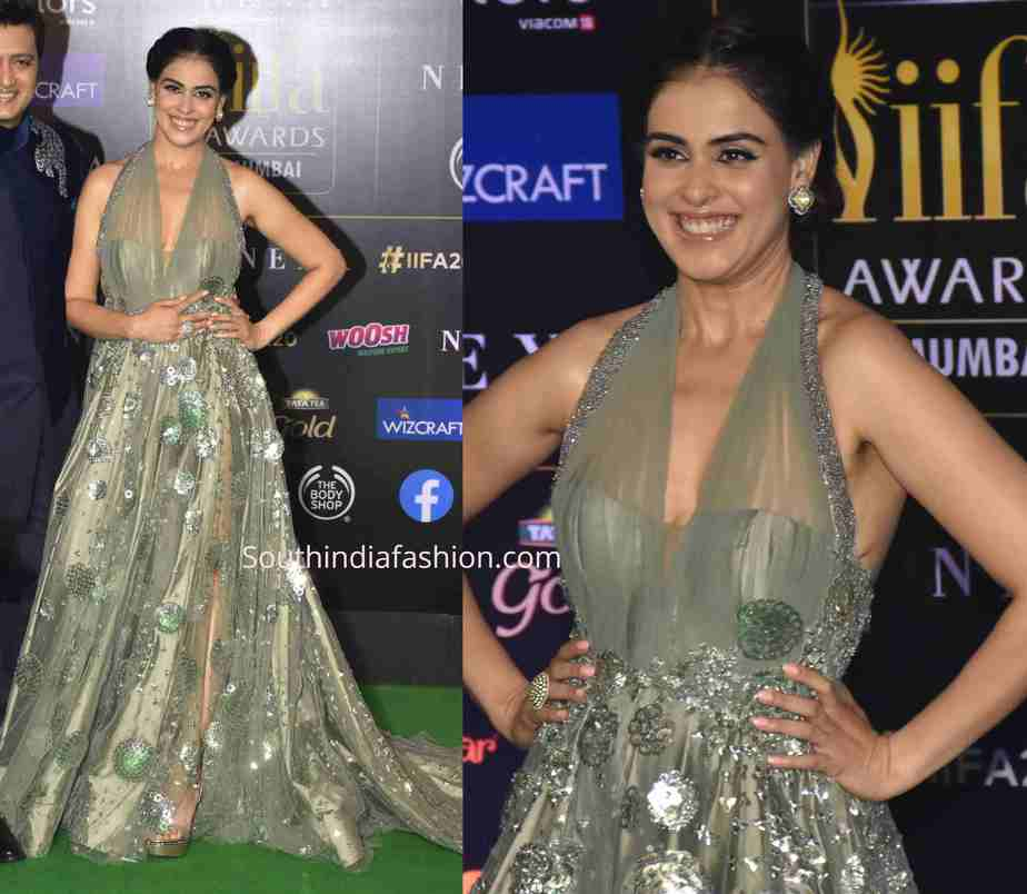 genelia in manish malhotra gown at iifa awards 2019