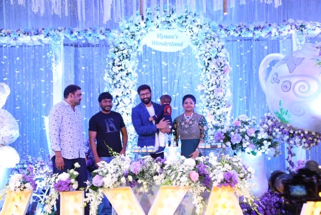 Gopichand's Younger son Viyaan's 1st birthday celebrations