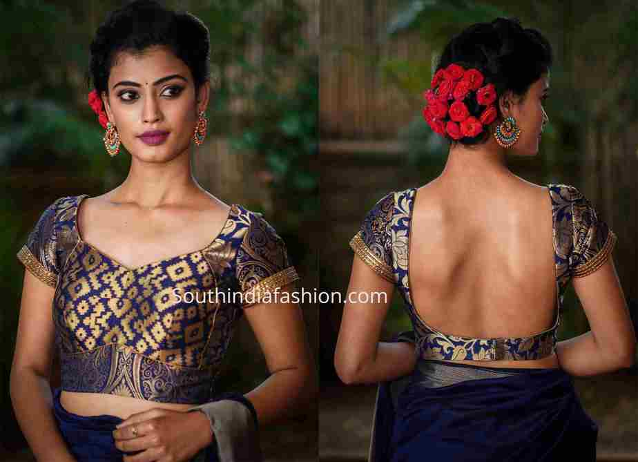 brocade choli designs