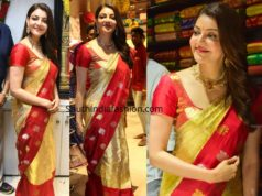 kajal aggarwal pattu saree mangalya shopping mall launch