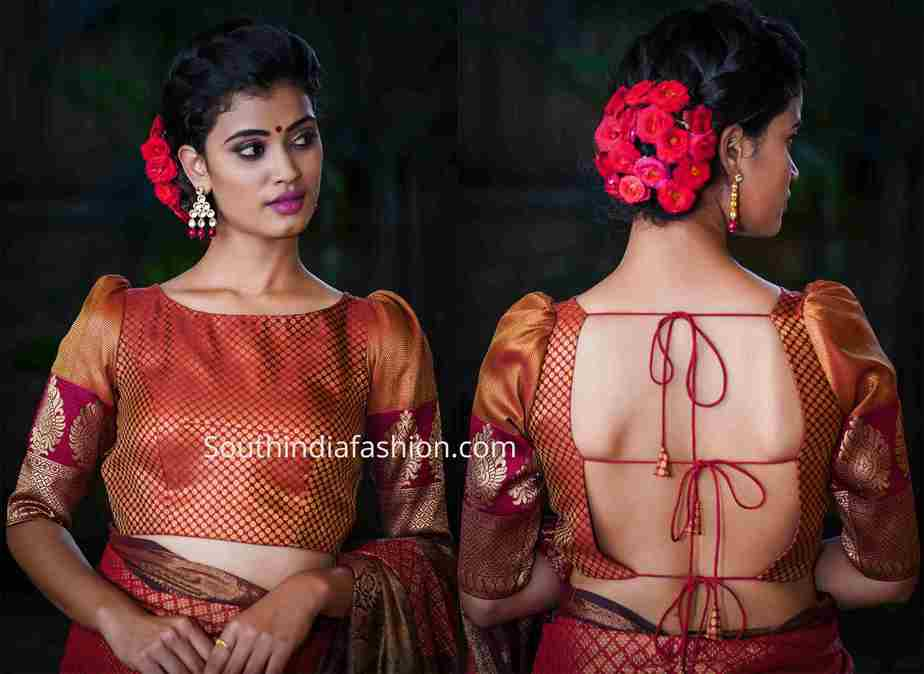 latest brocade blouse designs 2019