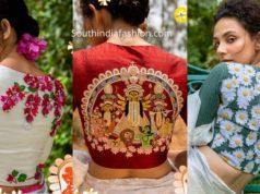 latest festive blouse designs by sayanti ghosh