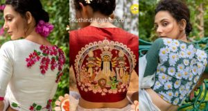 latest festive blouse designs by sayanti ghosh
