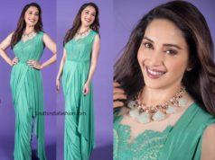 madhuri dixit saree gown
