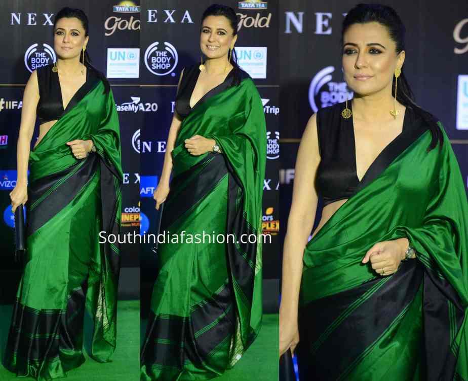 mini mathur green saree iifa awards 2019 (1)