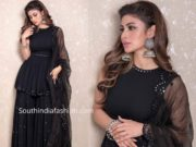mouni roy black sharara suit