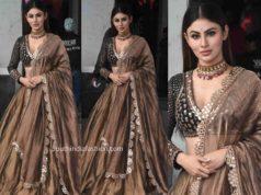 mouni roy mirror work lehenga