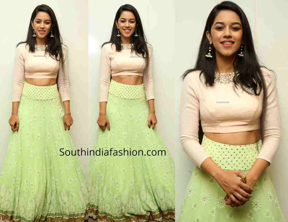 mrinalini ravi long skirt crop top at gaddalakonda ganesh success meet