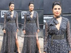 priyanka chopra black maxi dress sky is pink promotions