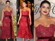 priyanka chopra red dress at vanity fair best dressed