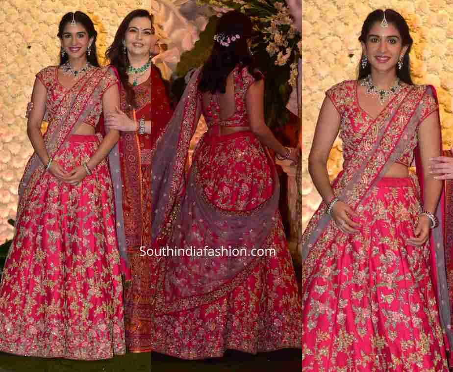 radhika merchant pink lehenga ambani ganesh chaturthi celebrations
