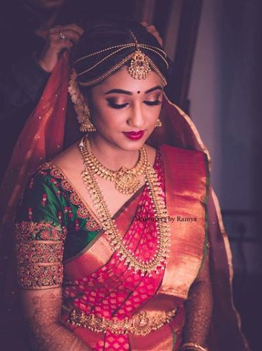 Makeup artist Ramya