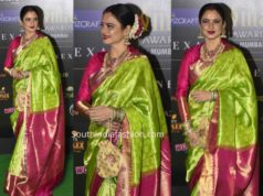 rekha green kanjeevaram saree iifa awards 2019