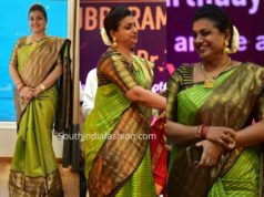 roja green pattu saree t subbirami reddy birthday