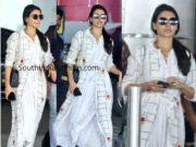 samantha akkineni airport style white dress