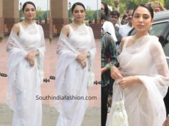 shobita dhulipala white saree at netflix bard of blood promotions