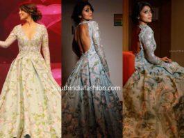 shriya saran gown at santosham awards 2019