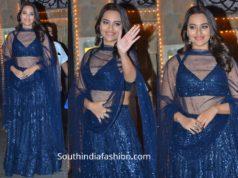 Sonakshi Sinha in a Royal Blue Lehenga