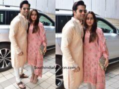 Varun Dhawan and Natasha Dalal for Diwali Pooja