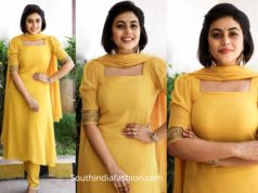 actress poorna yellow salwar kameez