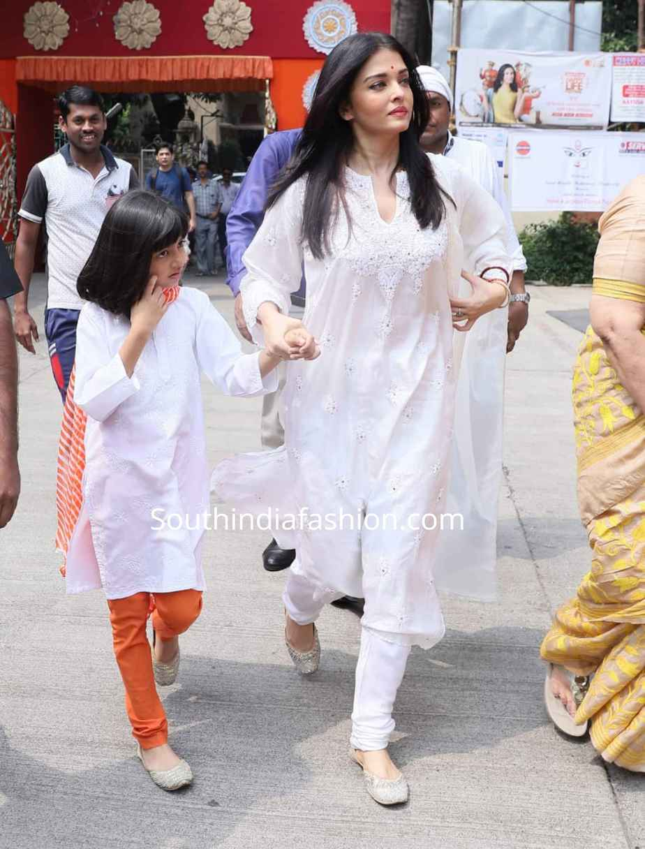 aishwarya aaradhya white salwar suits ramakrishna mission (1)