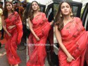 alia bhatt saree durga puja celebrations 2019