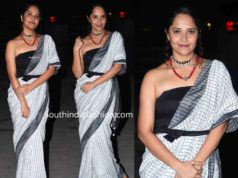 anchor anasuya white saree at meeku maathrame chepta pre release funcitonction