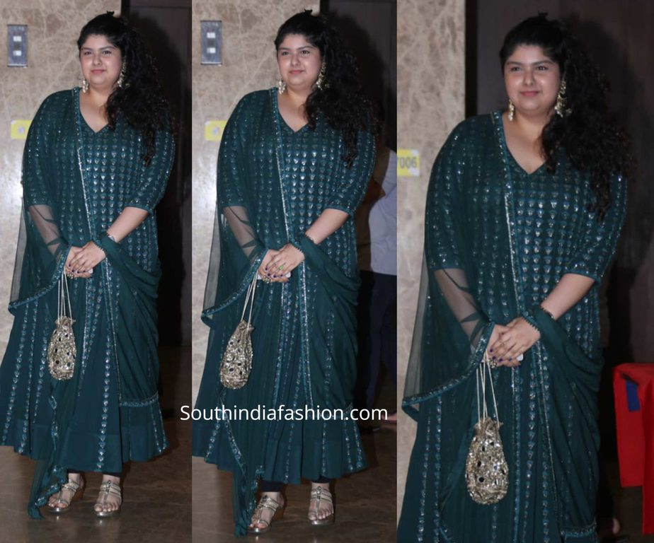 anshula kapoor green anarkali at ramesh taurani diwali bash 2019