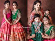 ariana and viviana in pattu half sarees (1)