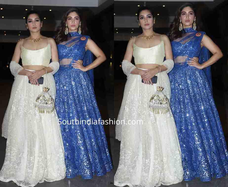 bhumi pednekar and her sister at jackky bhagnani diwali party 2019