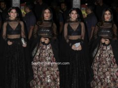 bhumi pednekar and her sister in black lehengas at diwali party