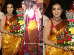 catherine tresa pattu saree