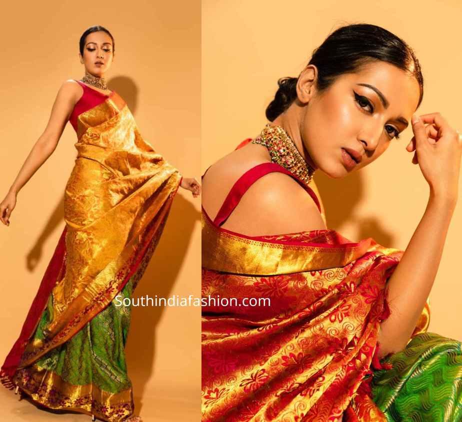 catherine tresa silk saree