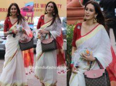chahatt khanna traditional bengali saree durga puja 2019