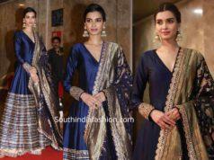 diana penty in navy blue anarkali suit at ramesh taurani diwali party 2019